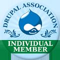 Badge -  Drupal Association - Individual member.